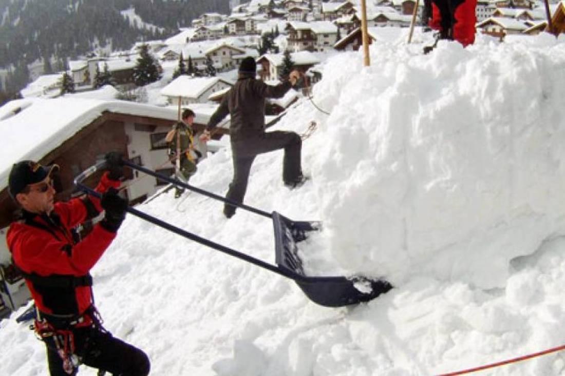 Sicherung - Dach abschöpfen 29.01.2012